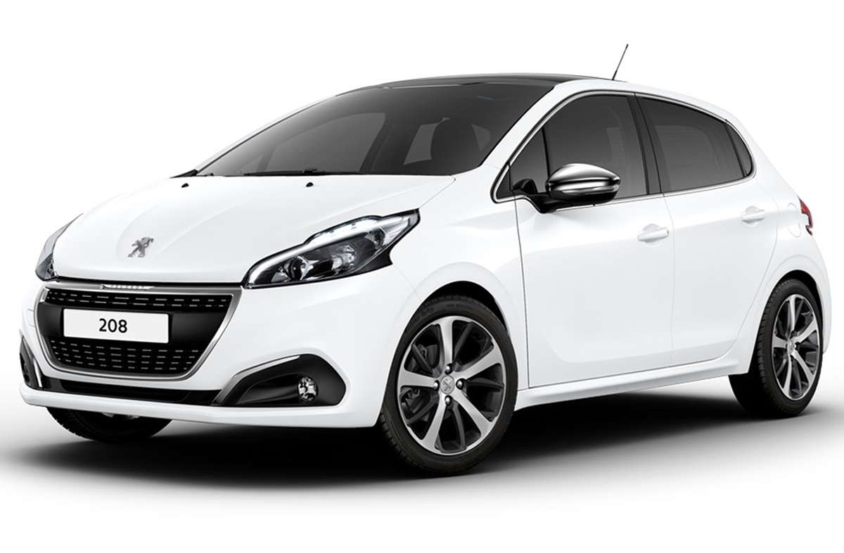 Peugeot 208 blanche